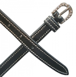 Mark Todd Leather Diamante Belt