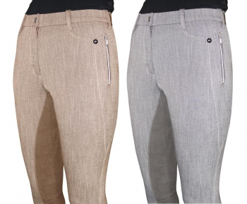 Mark Todd *Clearance* Ladies Linen Breeches Latte