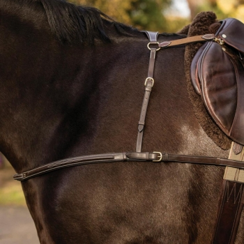 Mark Todd 3 Point Breastplate (Brass Fittings)
