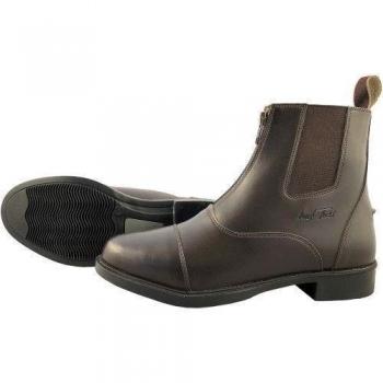 Mark Todd Front Zip Synthetic Jodhpur Boots