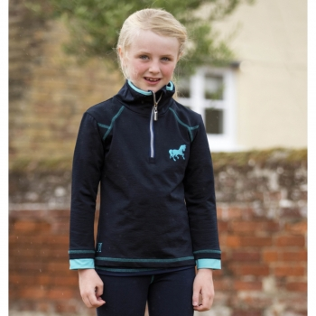 Mark Todd Kids Training Top Navy/Aqua