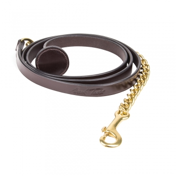 Mark Todd Flat Leather Lead Chain