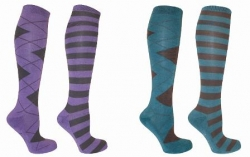 Mark Todd Long Ladies Stripey Socks