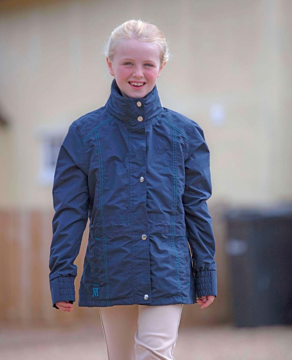 Mark Todd Kids Navy//Aqua Padded Waterproof Jacket