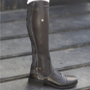 Mark Todd Patent Piped Leather Half Chaps Black