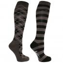 Mark Todd Argyle/Stripe Twin Pack Socks
