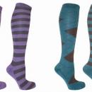 Mark Todd Long Ladies Stripey Socks